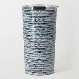 Knitting-like crochet texture Travel Mug