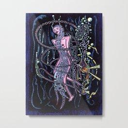 Smoking Underwater Metal Print