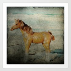 Beach Pony Art Print