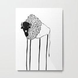 Creepy Buffalo Metal Print