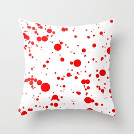 Blood Red and White Painting Throw Pillow