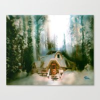 "the hobbit Canvas Prints featuring ""HOBBIT HOUSE"" by FOXART  - JAY PATRICK FOX"