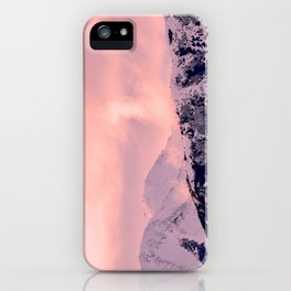 Kenai Mts Bathed in Serenity Rose - II iPhone Case