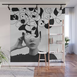 Abstraction - version 1. BW Wall Mural