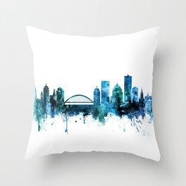 Rochester New York Skyline Throw Pillow