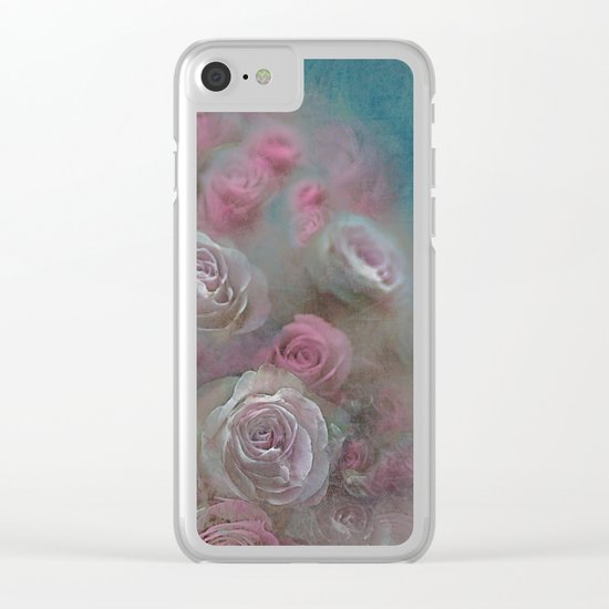 Vintage roses(5) Clear iPhone Case