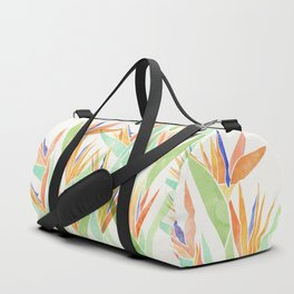 Birds of Paradise ~ tropical bouquet Duffle Bag