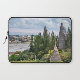 Tjibaou Cultural Centre on the seashore at low tide in Noumea. Laptop Sleeve