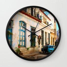 havana street Wall Clock