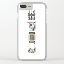 MACHINE LETTERS - LOVE Clear iPhone Case