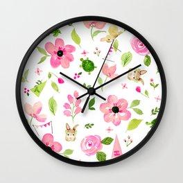 Bunny Beats Turtle Wall Clock
