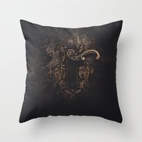 door Throw Pillows featuring door by Erica Petit Illustrations