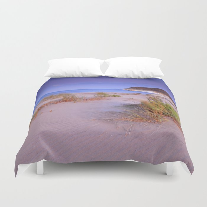 """Windy sunset at the paradise"" Duvet Cover"