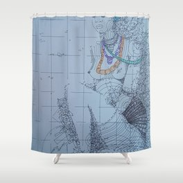 Dipo 2 / African Initiation Shower Curtain