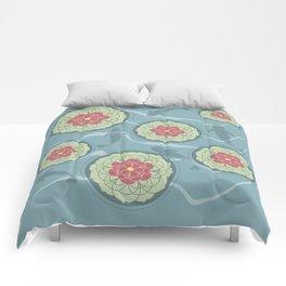 Koi Lotus Pond Comforters