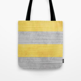 Brush Stroke Stripes: Silver and Gold Tote Bag