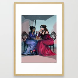 Nina and Inej in Ketterdam Framed Art Print