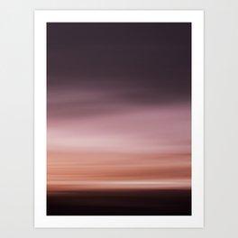 Landscape red (moving) Art Print