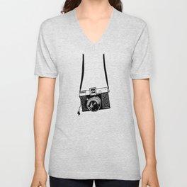 Diana Camera B&W Unisex V-Neck