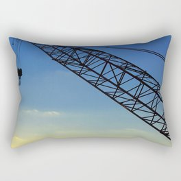 Sunset Construction Crane Rectangular Pillow