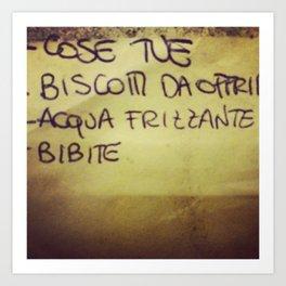 lista_della_spesa Art Print