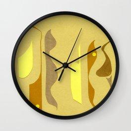 Yellow à gogo Wall Clock