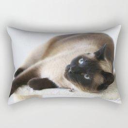 Sulley, A Siamese Cat Rectangular Pillow