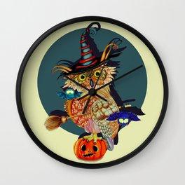 Owl Scary Wall Clock