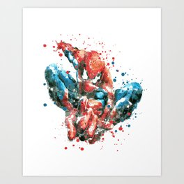 SPIDER-MAN SUPERHERO Art Print