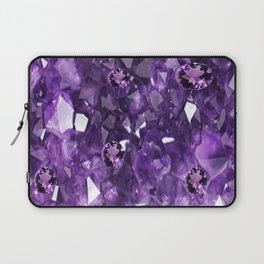 FEBRUARY PURPLE AMETHYST GEMS & CRYSTALS BIRTHSTONE Laptop Sleeve