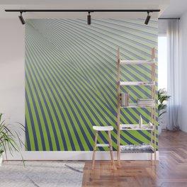 Green Diagonal Stripes Wall Mural