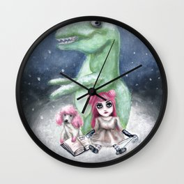Kimmy and Rex Wall Clock