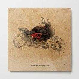 Ducati Diavel Carbon 2015 Metal Print