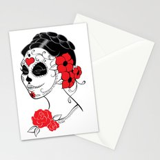 Muerta Red White & Black Stationery Cards