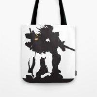 gundam Tote Bags featuring Gundam RX-78-2 by Jason Weisbrot