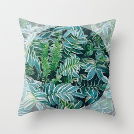 Greenery Circle Throw Pillow