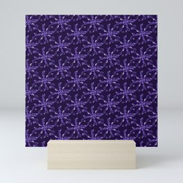 Rope Twist Sky (Purple): an energetic pattern to enrich your every day Mini Art Print