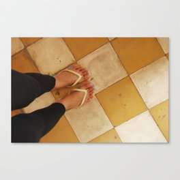 Footsteps in Tuol Sleng Canvas Print