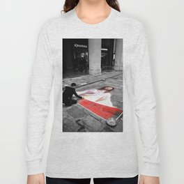 Street Art in Bologna Black and White Photography Color Long Sleeve T-shirt
