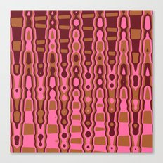 Pink and Brown Abstract Digital Image Canvas Print