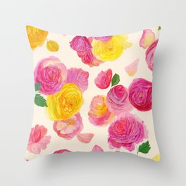 Royal Garden Throw Pillow