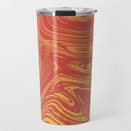 Red marble pattern with golden tint Travel Mug