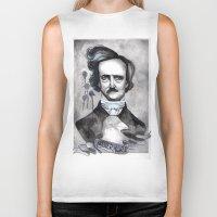 edgar allan poe Biker Tanks featuring Edgar Allan Poe by JsuauG