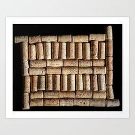 Wine corks close up Art Print