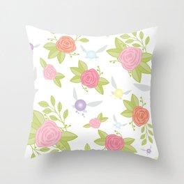 Garden of Fairies Pattern Throw Pillow