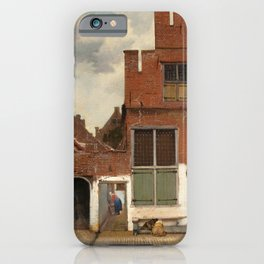 """Johannes Vermeer """"View on Houses in Delft (also known as 'The Little Street')"""" iPhone Case"""