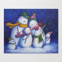 Snow Family Portrait Canvas Print