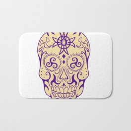 Mexican Skull  With Triskele and Celtic Cross Tattoo Bath Mat
