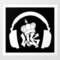Wax Kings Headphones Logo Art Print