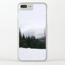 Mist between mountains Clear iPhone Case